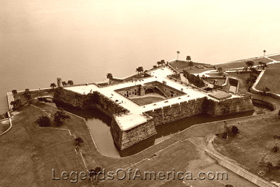St. Augustine, FL - Castillo de San Marcos Aerial