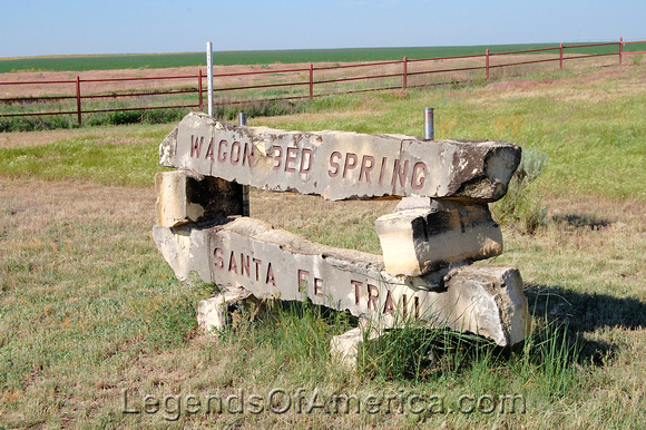 Grant County, KS - Wagon Bed Spring Marker - 2
