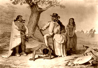 Daniel Boone rescuing his daughter Jemina,1851