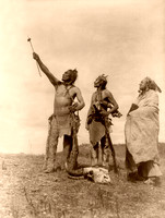 Apsaroke/Crow - Men gazing skyward, 1908