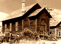 Bannack, MT - Methodist Church Vintage - 2