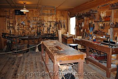 Wichita, KS - Old Cowtown - Carpenter Shop Interior