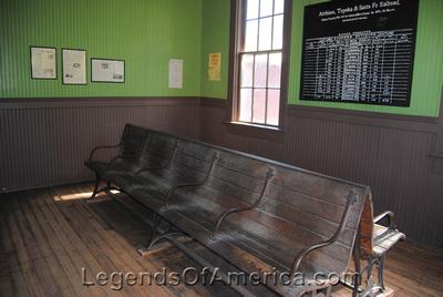 Wichita, KS - Old Cowtown - Depot Interior - 2