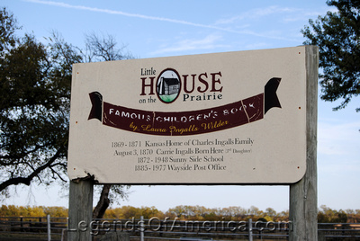 Independence, KS - Little House on the Prairie Museum - Sign