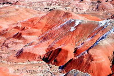 Painted Desert, AZ - Snow