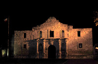 San Antonio, TX - Alamo Mission at Night