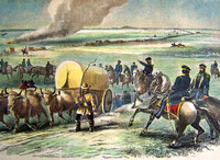 Army Train Crossing Plains, 1858