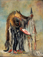 Blackfoot - Medicine Man Performing his Mysteries
