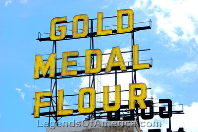 Minneapolis, MN -Gold Medal Flour Sign - 2