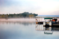 Lake of the Ozarks - Boat in the Mist