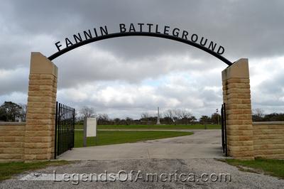 Fannin, TX - Battlefield Sign