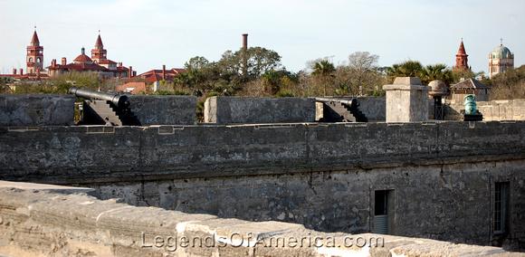 St. Augustine, FL - Castillo de San Marcos Skyline