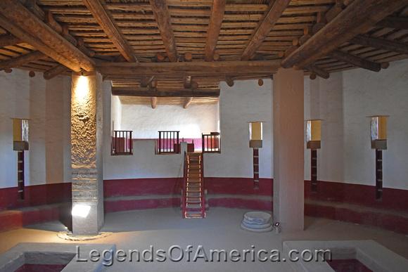 Aztec Ruins National Monument, NM - Great Kiva Interior