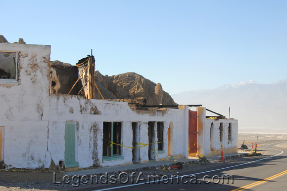 Furnace Creek, CA - Furnace Creek Inn Burned Bldg