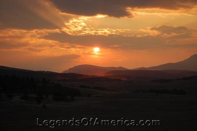 Rockies Sunset - Near Hartsel