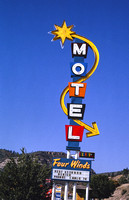 Durango, CO - Four Winds Motel Sign, 1991