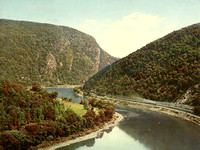 Delaware Water Gap, above the Gap from Winona CliffPAWilliamHJacksonabt1900
