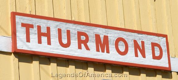 Thurmond, WV - Depot Sign