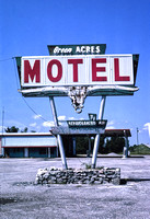 Afton, OK - Green Acres Motel Sign, 1982