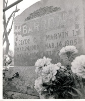 Dallas, TX - Clyde Barrow Grave in 1972