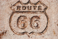 Painted Desert, AZ - Route 66 Shield