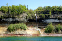 Pictured Rocks CliffsMIWaterfall-nps