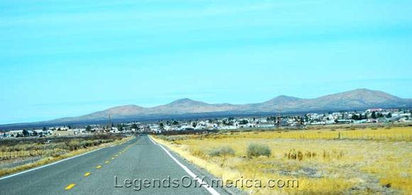 New Mexico Highway 9 into Columbus