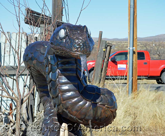 Snake art at Rattlesnake Ranch, AZ
