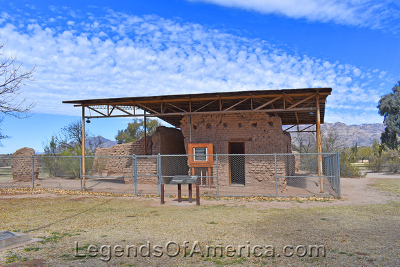 Hospital Ruins at Fort Lowell, Tucson.