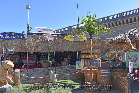 Burgers by the Bridge, English Village, Lake Havasu City, AZ.