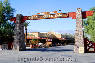 Furnace Creek, CA - Furnace Creek Ranch Entry