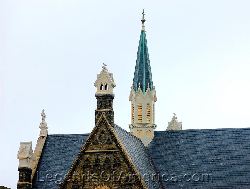 Milwaukee, WI - Trinity Evangeline Lutheran Church Steeples 2