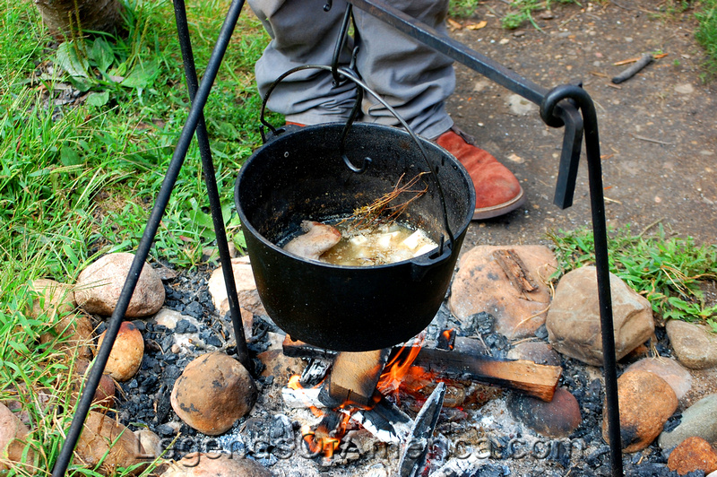 Old World Wisconsin -Squirrel Turnip Soup at Norwegian Farm