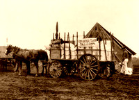Fort Sam Houston, TX -  Commissary wagon, 1912