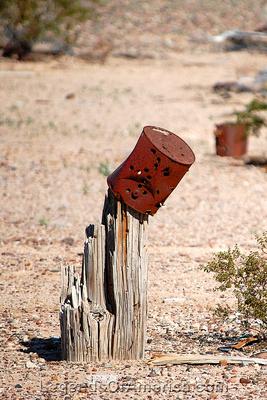 Aztec, AZ - Can on a Post
