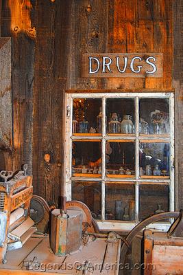 Apache Junction, AZ - Superstition Mountain Museum Drug Store Exhibit