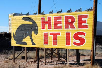 Joseph City, AZ - Jackrabbit Trading Post Sign