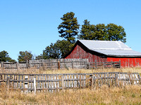 Barn & Fence in Southeast Wyoming