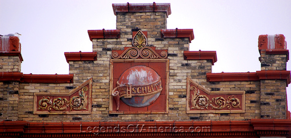 Milwaukee, WI - Schlitz Park - Logo on Building