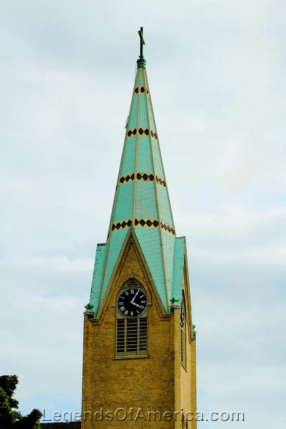 Manitowoc, WI - Church Clock Steeple