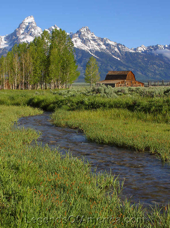 Grand Tetons, WY - Barn on Snake River