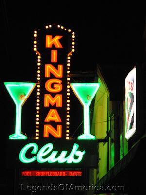 Kingman, AZ - Kingman Club Neon Sign