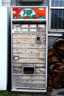 Harpers Ferry, IA - Wood Front Pop Machine