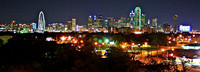 Dallas, TX - Downtown from Oak Cliff Belmont Hotel