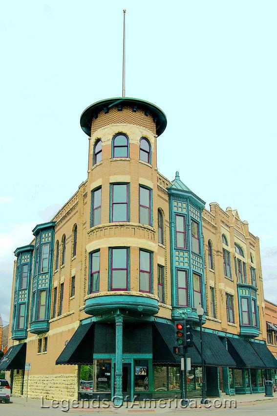 Oshkosh, WI - Downtown Building