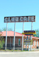 Santa Rosa, NM - Club Cafe Sign