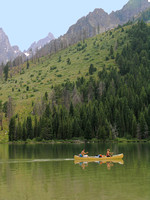Grand Tetons, WY - Canoeing on String Lakenps