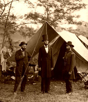Abraham Lincoln on the battlefield.