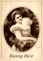 Fannie Rice, actress, 1898