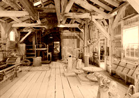 Bodie. CA - Standard Mine and Mill Interior, vintage